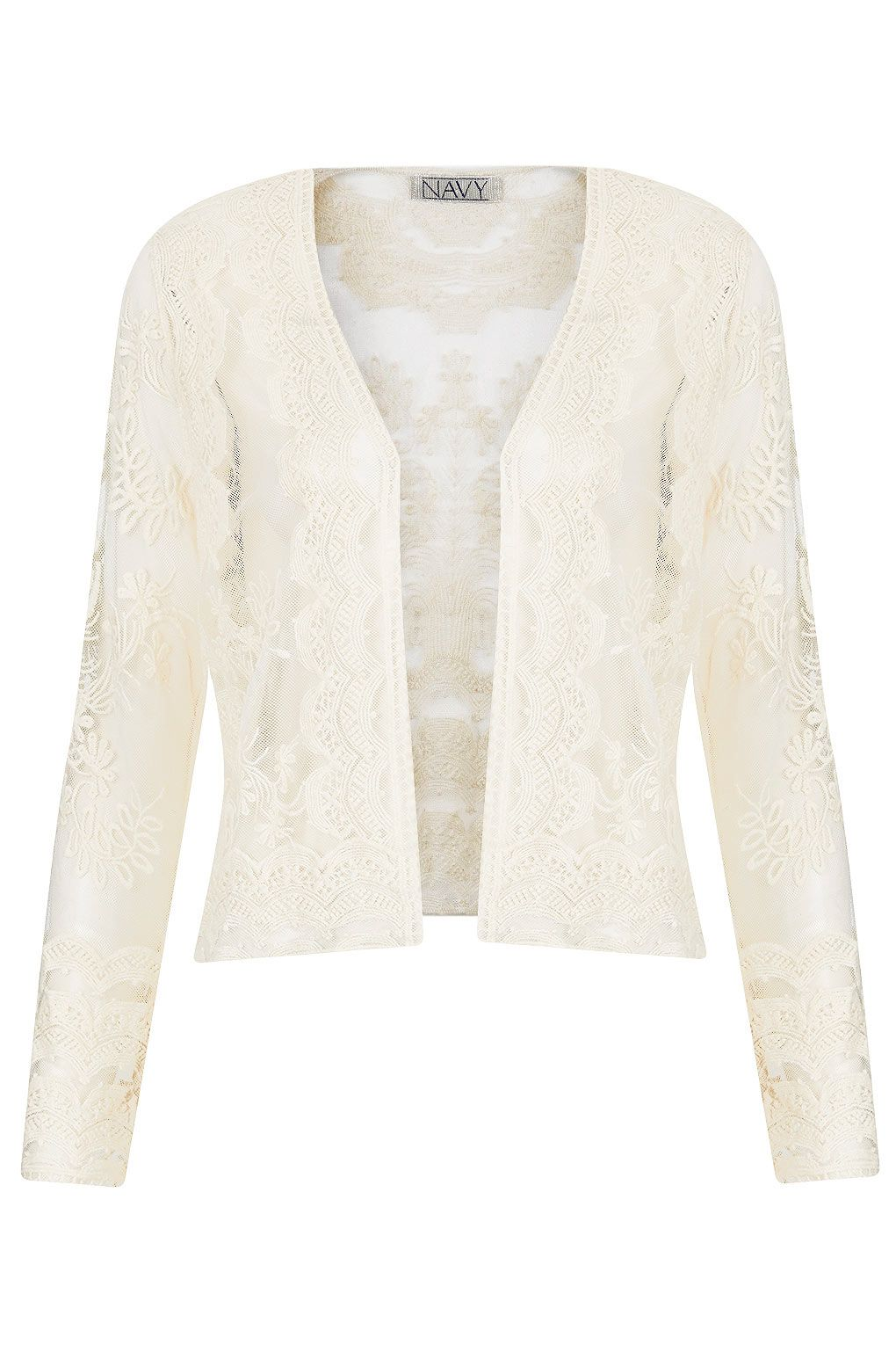 Skye Lace Cardigan by Navy - Topshop | Blazers | Pinterest ...