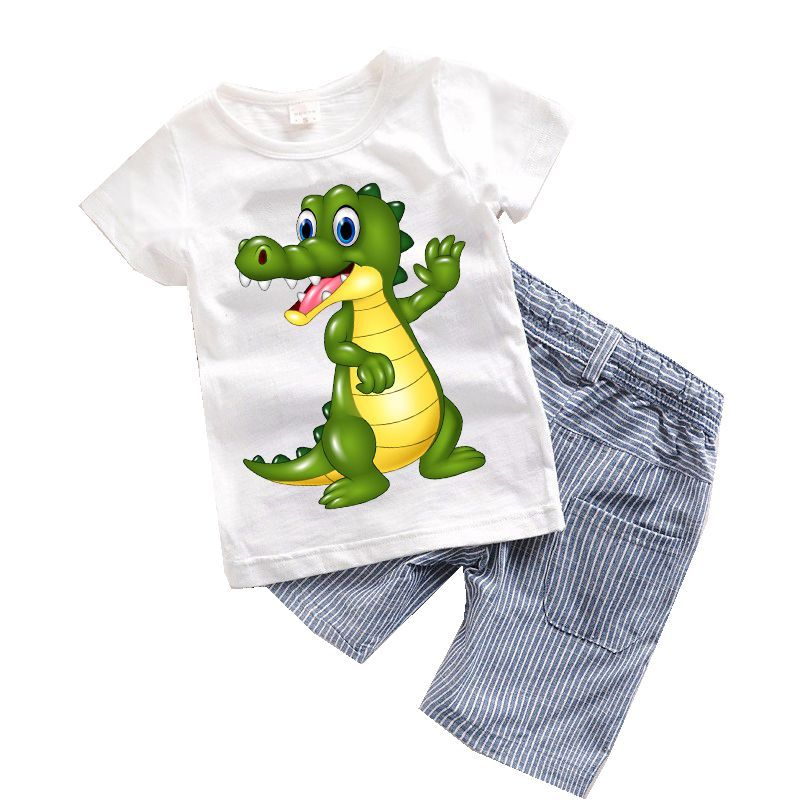 Exceptionnel 2PCS Suit Baby Boy Clothes Children Summer Toddler Boys Clothing Set Cartoon  2017 New Kids Fashion