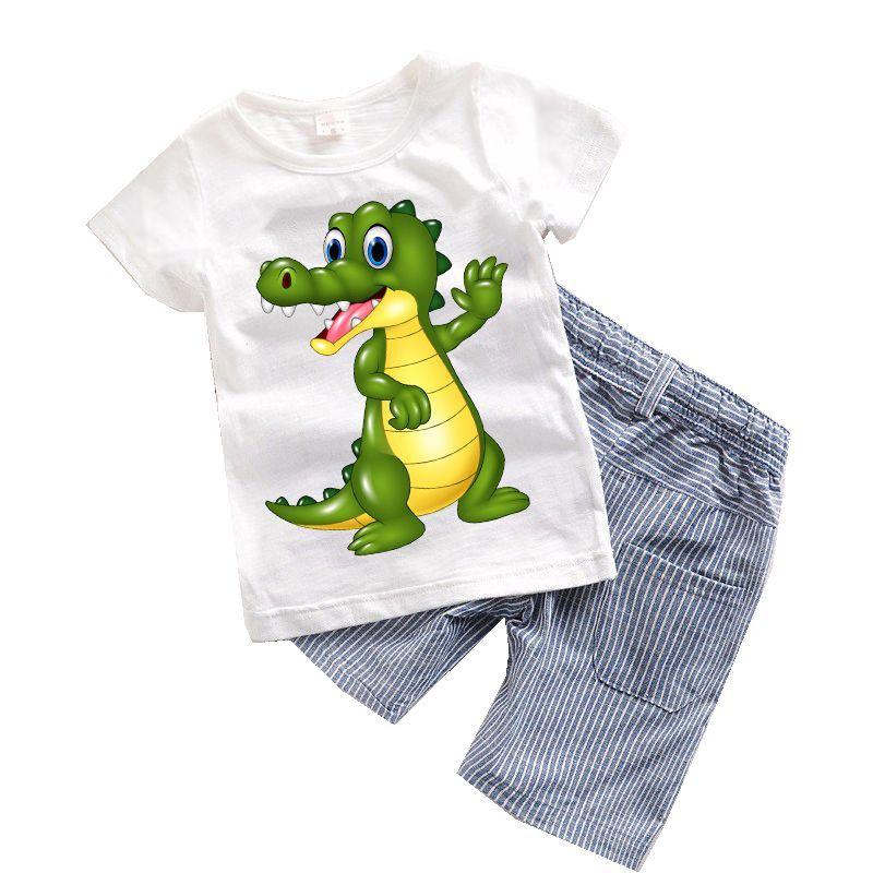 Exceptionnel 2PCS Suit Baby Boy Clothes Children Summer Toddler Boys Clothing Set Cartoon  2017 New Kids Fashion
