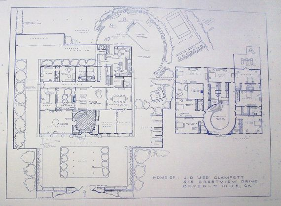 Wonderful 24 x 36 blueprint of the beverly hillbillies house made wonderful 24 x 36 blueprint of the beverly hillbillies house made the old fashioned malvernweather Images