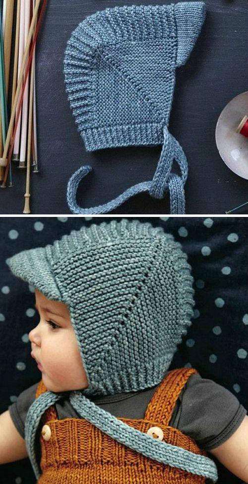 Vintage Baby Bonnet With Visor Tutorial Baby Hats Knitting Baby Hat Knitting Pattern Vintage Baby Bonnet