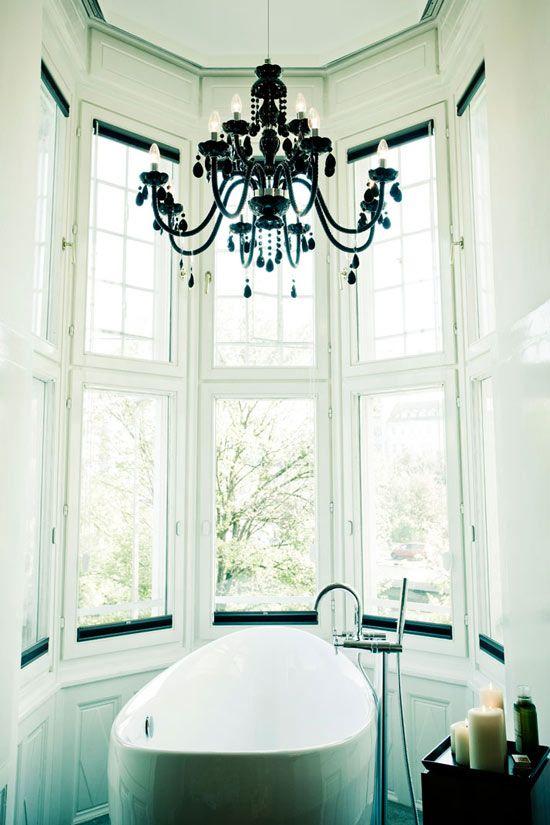 A Soulful Stay Elegant Bathroom Design Bathroom Chandelier