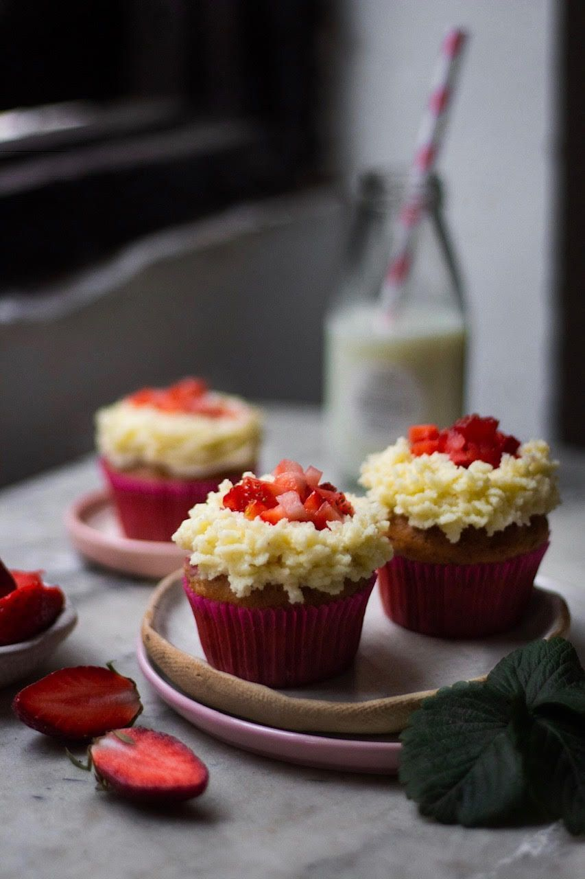 Eggless Strawberry Cupcakes Recipe Strawberry Cupcake Recipes