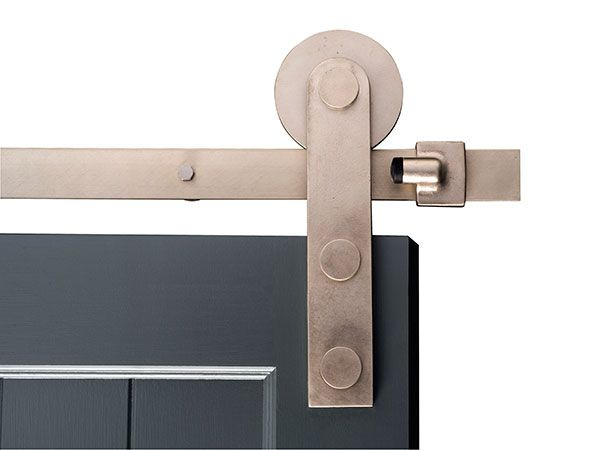 Crown Metalworks Oil Rubbed Bronze Decorative Sliding Door Hardware 12590 At The Home Depot July 21 2019 At 12 50 Barn Door Barn Style Doors
