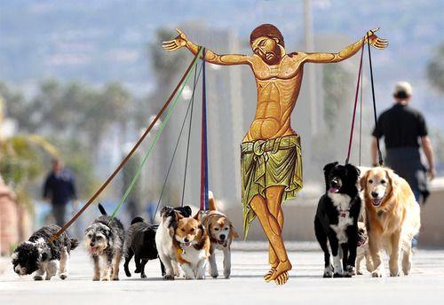 Godsdog Art Parody Jesus Pictures