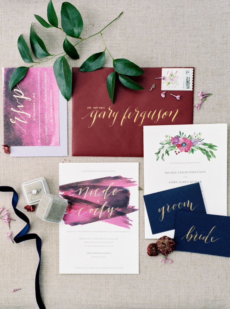 A Jewel-Toned Celebration on the Lawn of the Four Seasons | Invites ...
