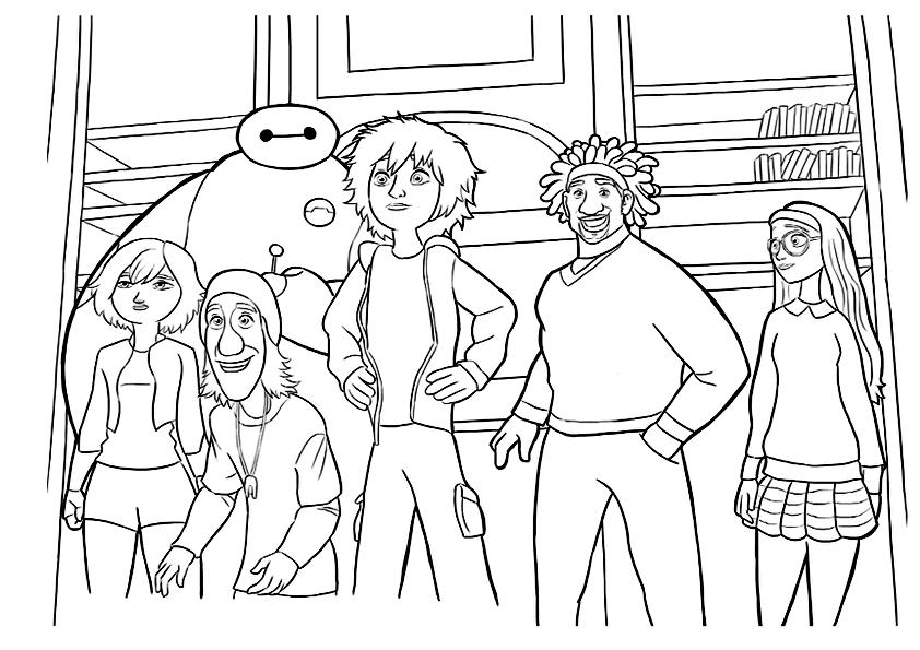 Dibujo de equipo de big hero 6 para colorearDibujo de equipo de big ...