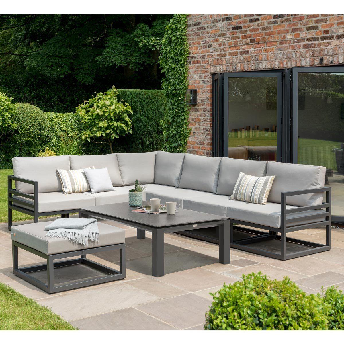 Life Outdoor Living Albury Aluminium 3 Piece Corner Seating Set Costco Uk Outdoor Living Garden Sofa Set Corner Seating
