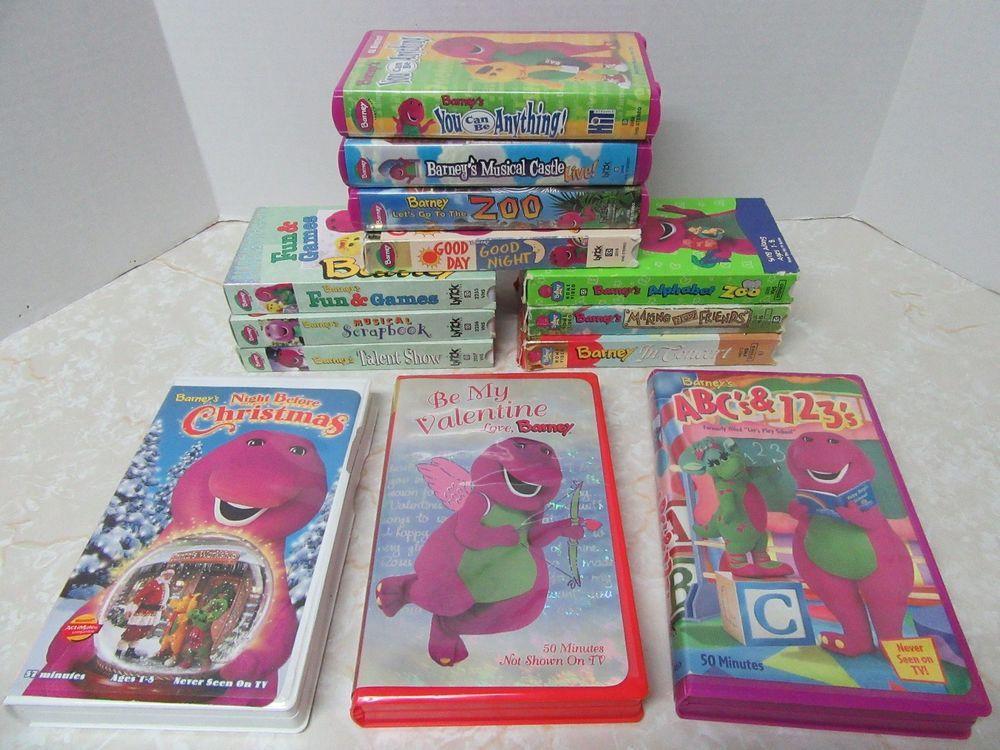 Lot 13 Barney VHS Movies Lyrick HIT Musical Zoo Making New Friends ...