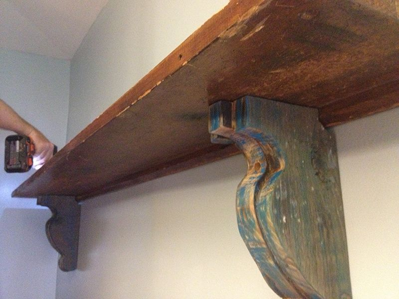 Easy Diy Shelf Brackets Wood Shelf Crafted From Reclaimed Wood