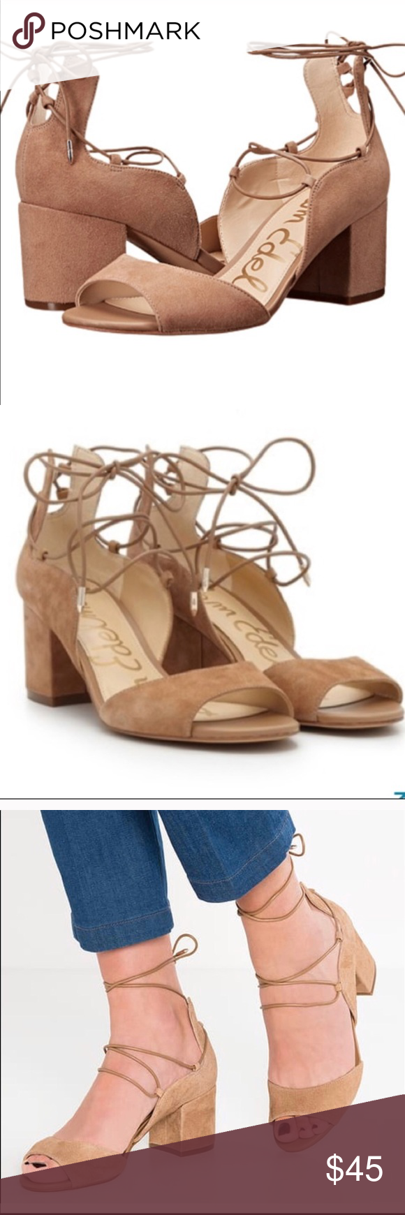 2880845ef3d89 Sam Edelman Serene Dress Sandal Sam Edelman Serene Dress Sandal In Golden  Caramel Suede. New