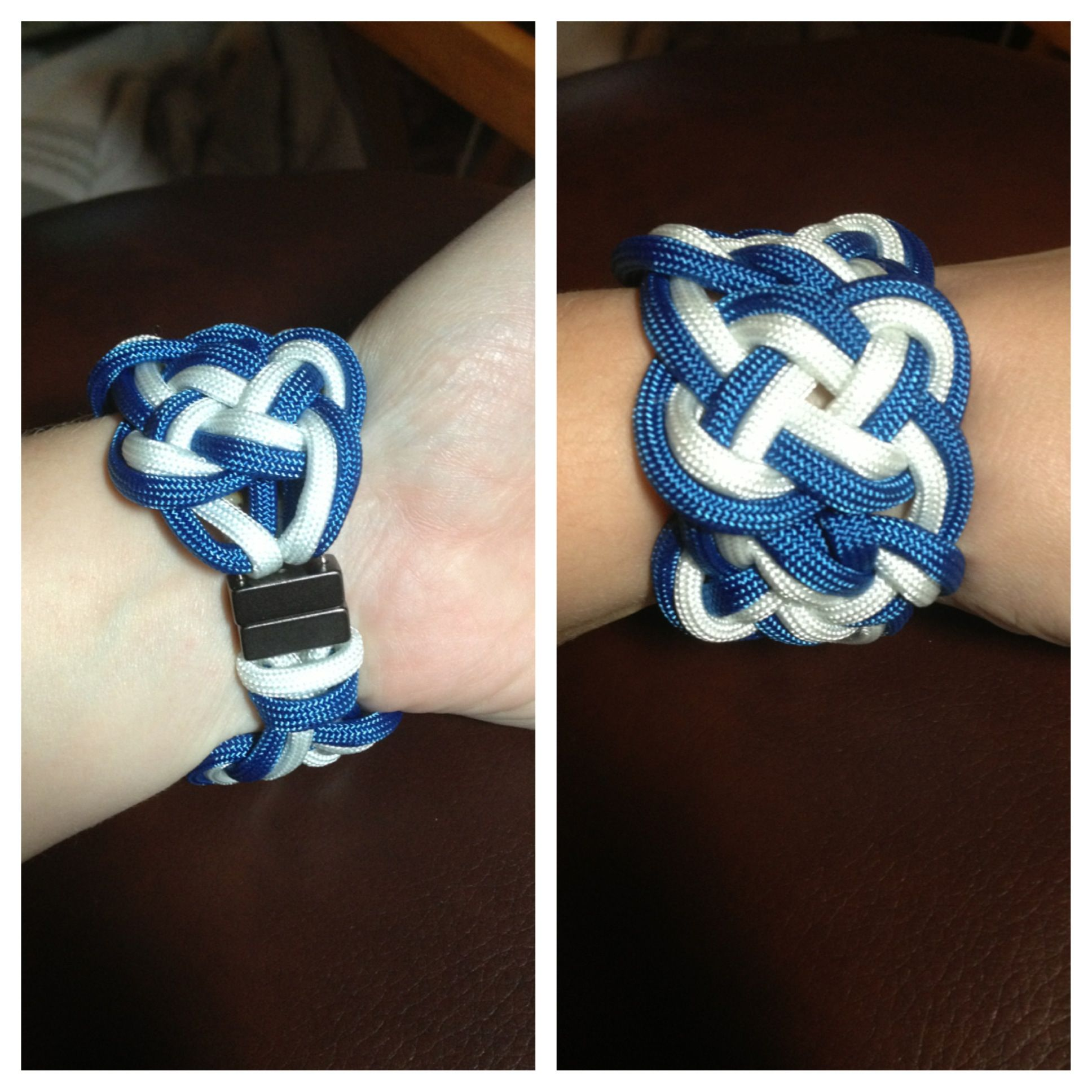 double celtic knot paracord bracelet with magnetic clasp. Black Bedroom Furniture Sets. Home Design Ideas