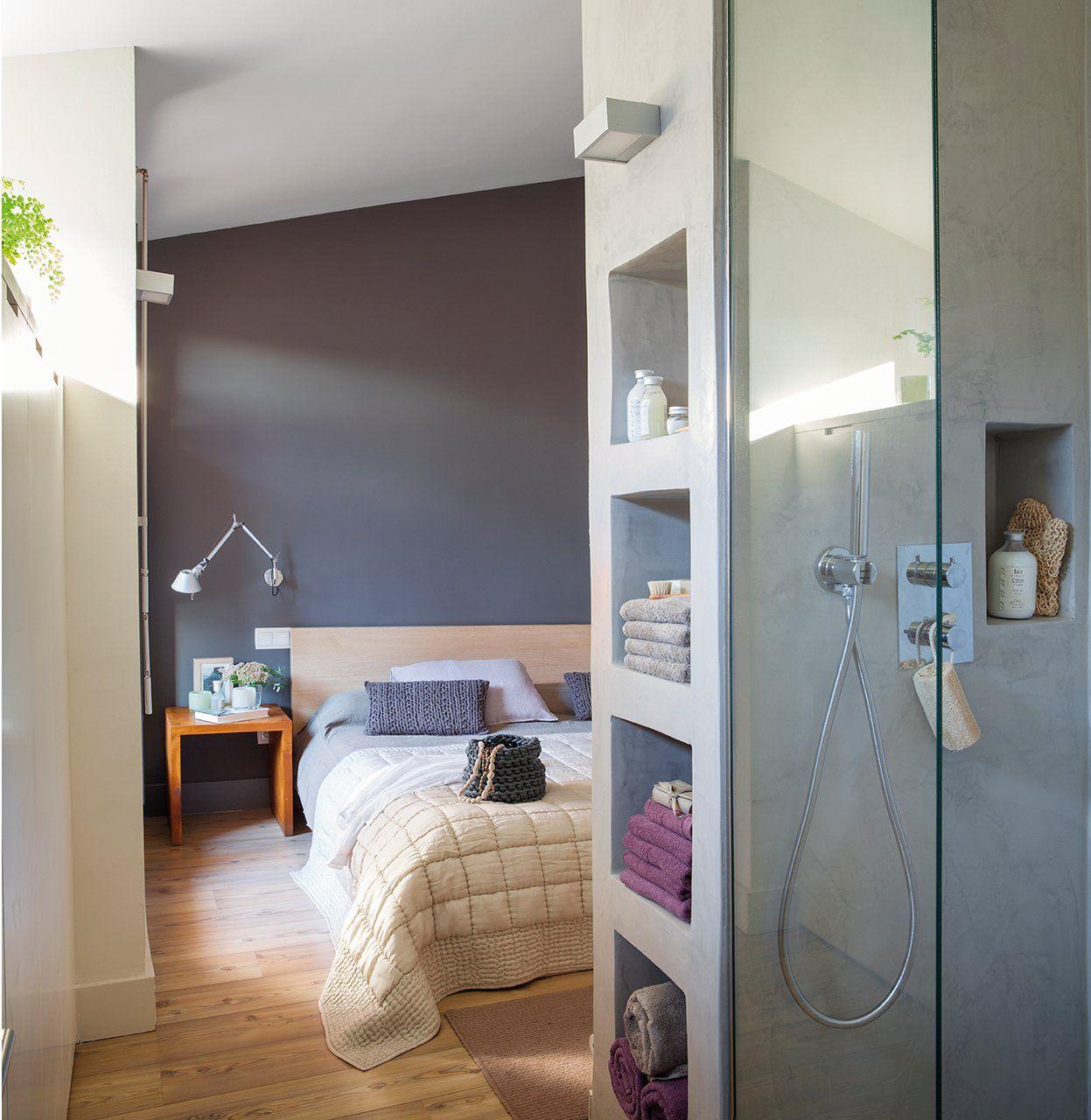 Tabique multiusos el grueso tabique que separa la ducha - Almacenaje dormitorio ...