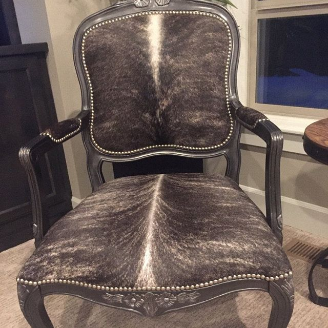 Genuine Cowhide Oval Back Chairs