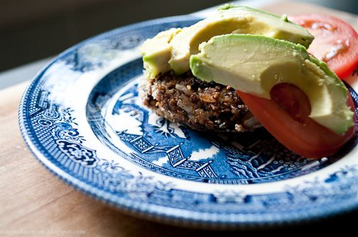 Black bean burger recipe on Magnolia Reverie