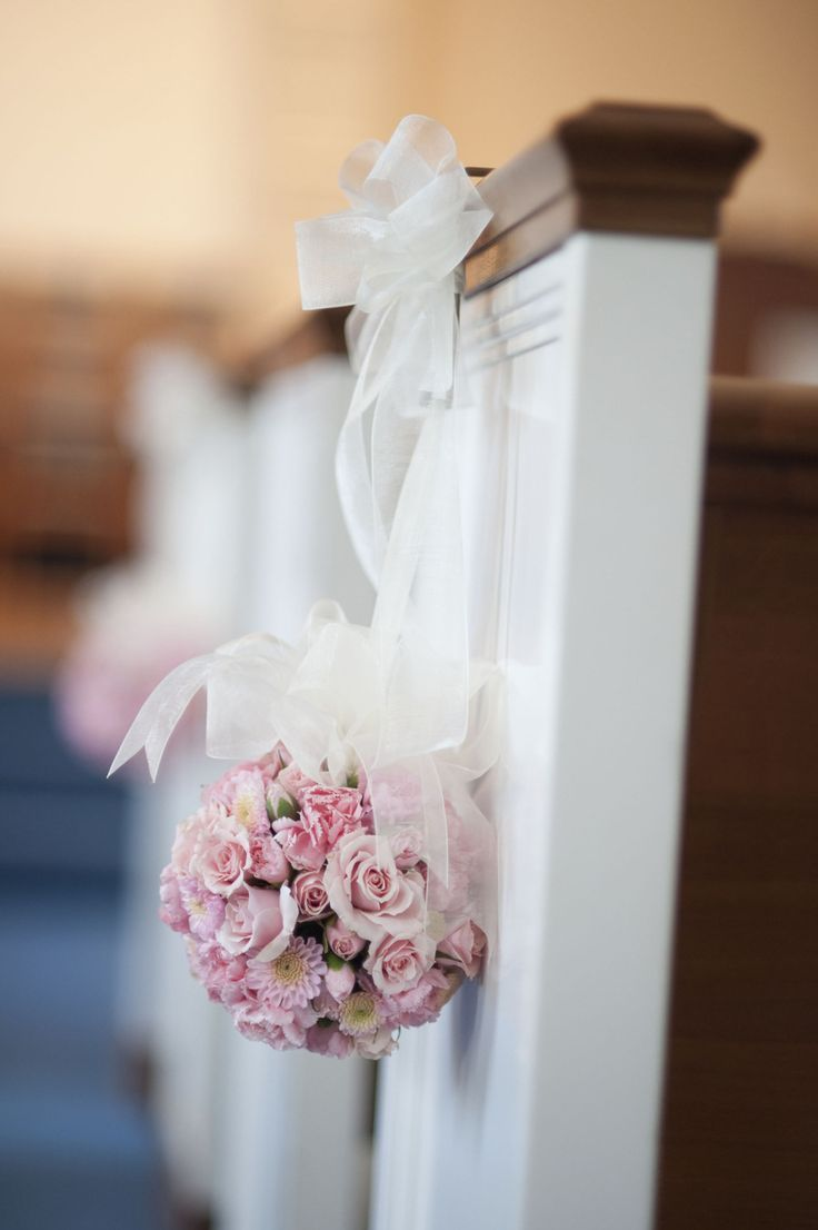 Pink wedding ceremony aisle decor. | Romantic & Pink Wedding Inspir ...