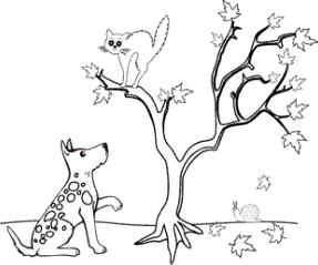 ausmalbild hund  katze   ausmalbilder katzen, ausmalbilder tiere, ausmalen