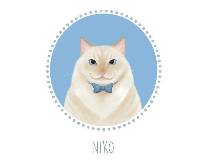 84ecc4e7d7e1 Custom pet portrait - Cat portrait - digital art - Cat lovers - Personalized  illustration - Custom cat portrait - custom cat - pet memorial -  mimandarina ...