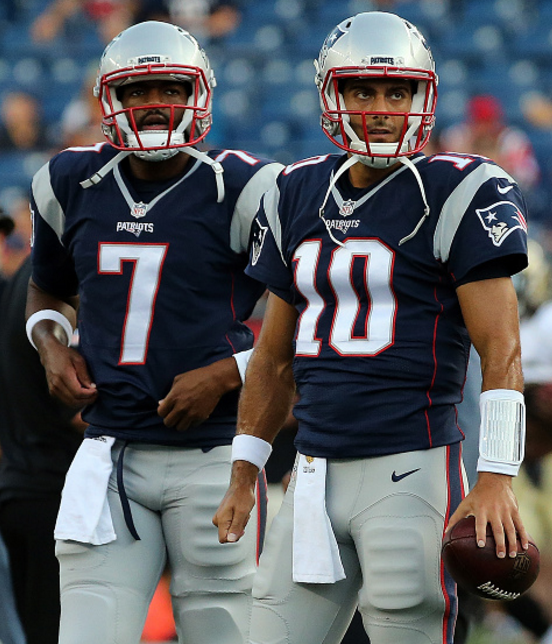 Jacoby Brissett and Jimmy Garoppolo Patriots, New