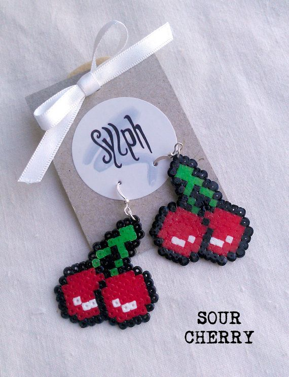 Whimsical Mini Hama Bead Jewelry by Sylph Designs ~ The Beading Gem's Journal