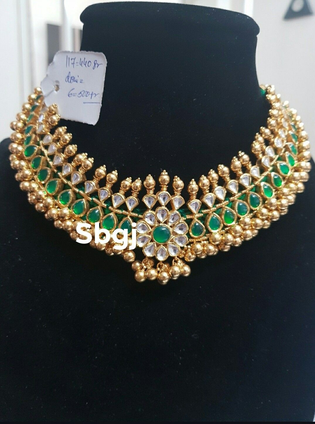 Balaji Jewelers Sea Blue Gold Crystal Fashion Jewelry Chain