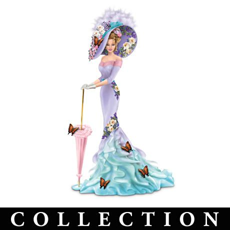 "Lady Figurine Collection Adorned With The Art Of Lena Liu.  7½"" tall.  $39.98 from Bradford Exchange."