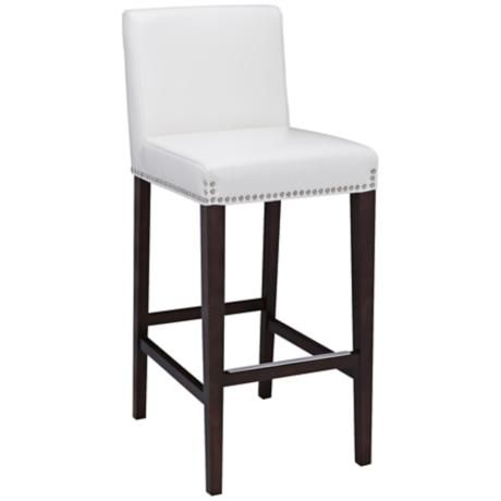 Brooke 25 1 2 Ivory Bonded Leather Counter Stool With Images