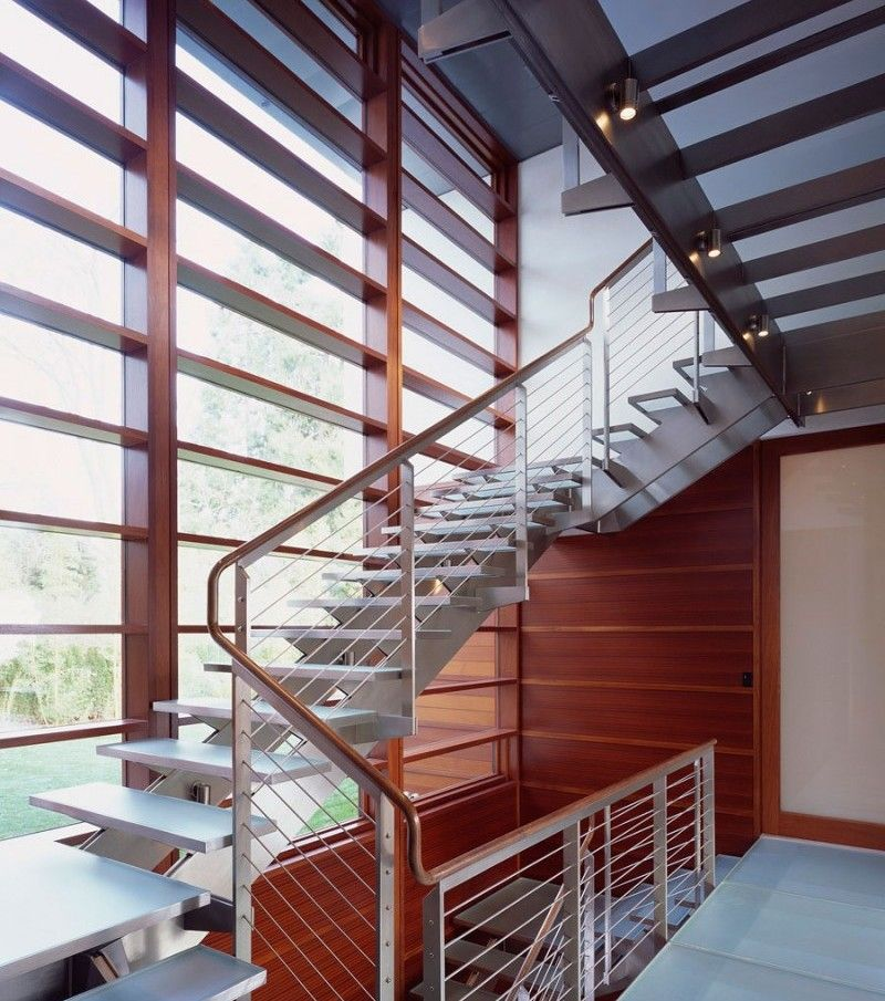 Metal Staircase Window Design The Best Design For Your Home | Modern Staircase Window Design | Architecture | Small House Stair | Section Window | Elegant | Wooden