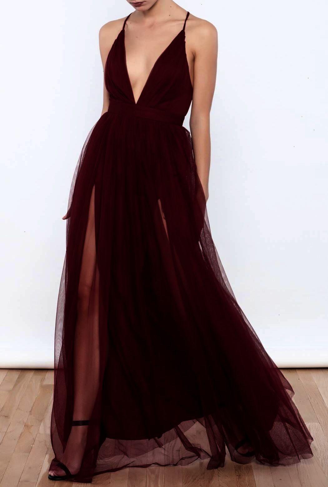 Prom dress prom dresses sexy black prom dresses plunging v neck