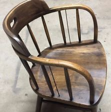 Superieur $125 Vintage Boling Chair Company Solid Oak Fire House Captains Chair 5 Avai