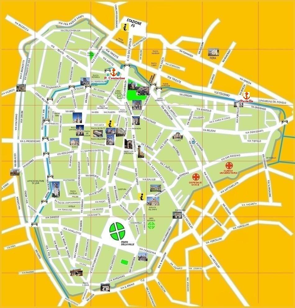 Mappa di Padova- Cartina di Padova | Venice | Pinterest | Italy