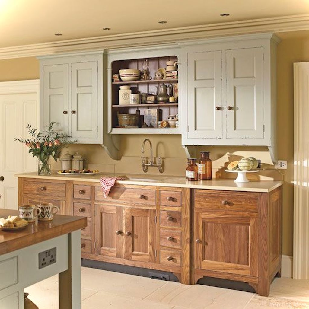 Adorable 44 Inspiring Cottage Kitchen Cabinets Ideas Country Style Https Roomaniac C Freestanding Kitchen Free Standing Kitchen Units Country Kitchen Designs