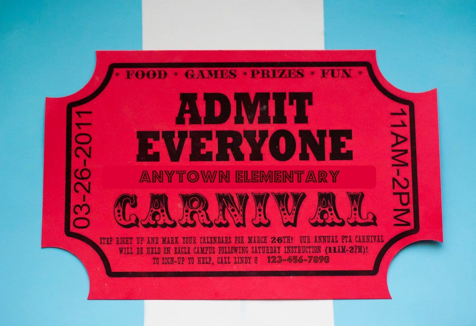 carnival ticket invitation template free lovely how to make big money writing line in 2020