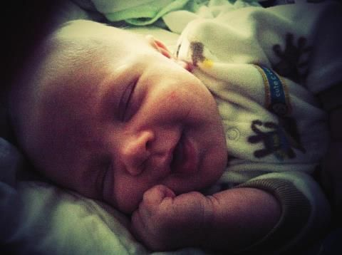 Sweet baby Jax smiley face