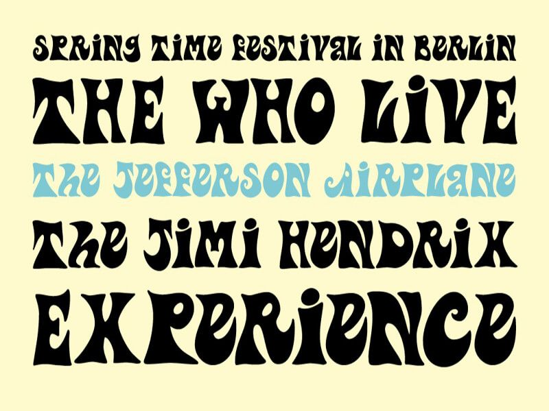Psychedelic Font Free Download   Psychedelic Font Free