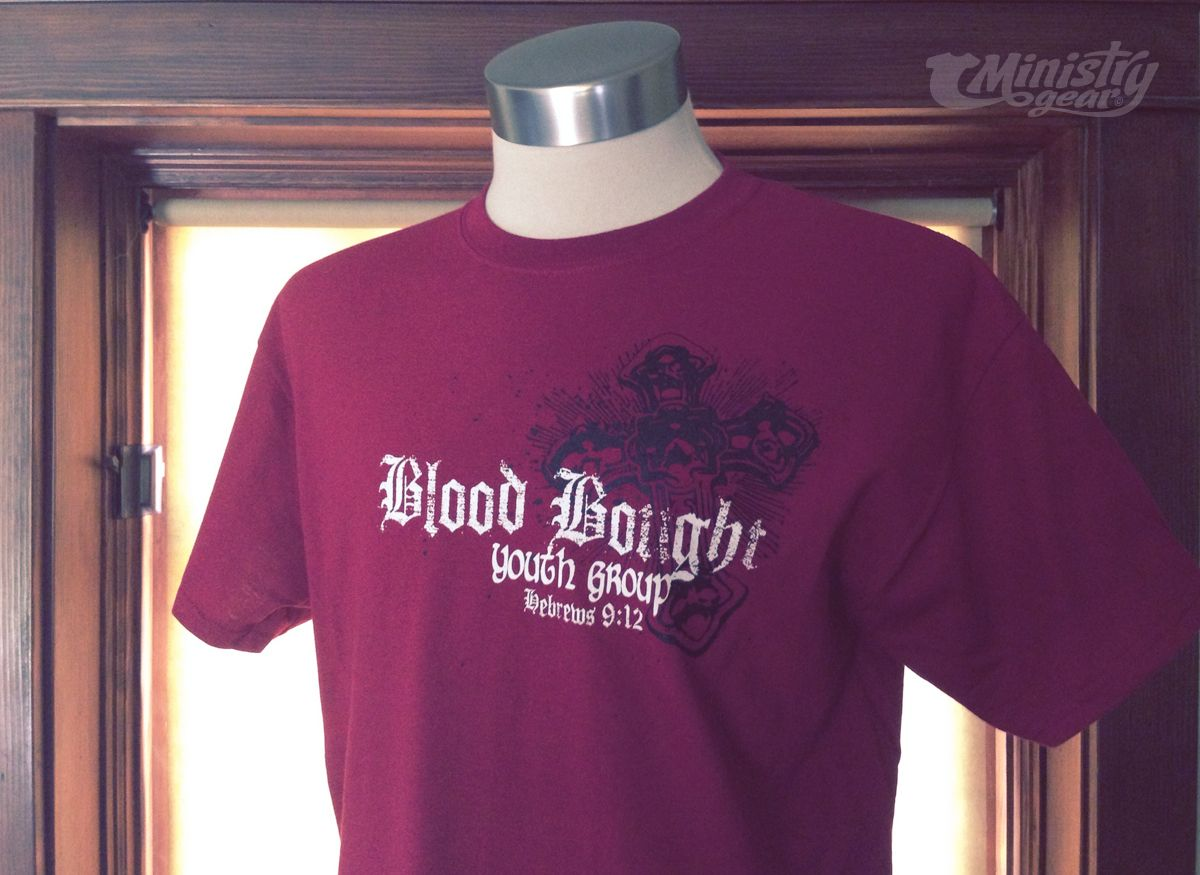 T shirt design youth -  Blood Bought Youth Group Shirt Design