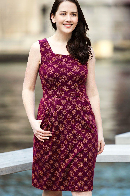 0590fe302a2 Womens Fair Trade Organic Sleeveless Square Neck Dress - Fair Indigo