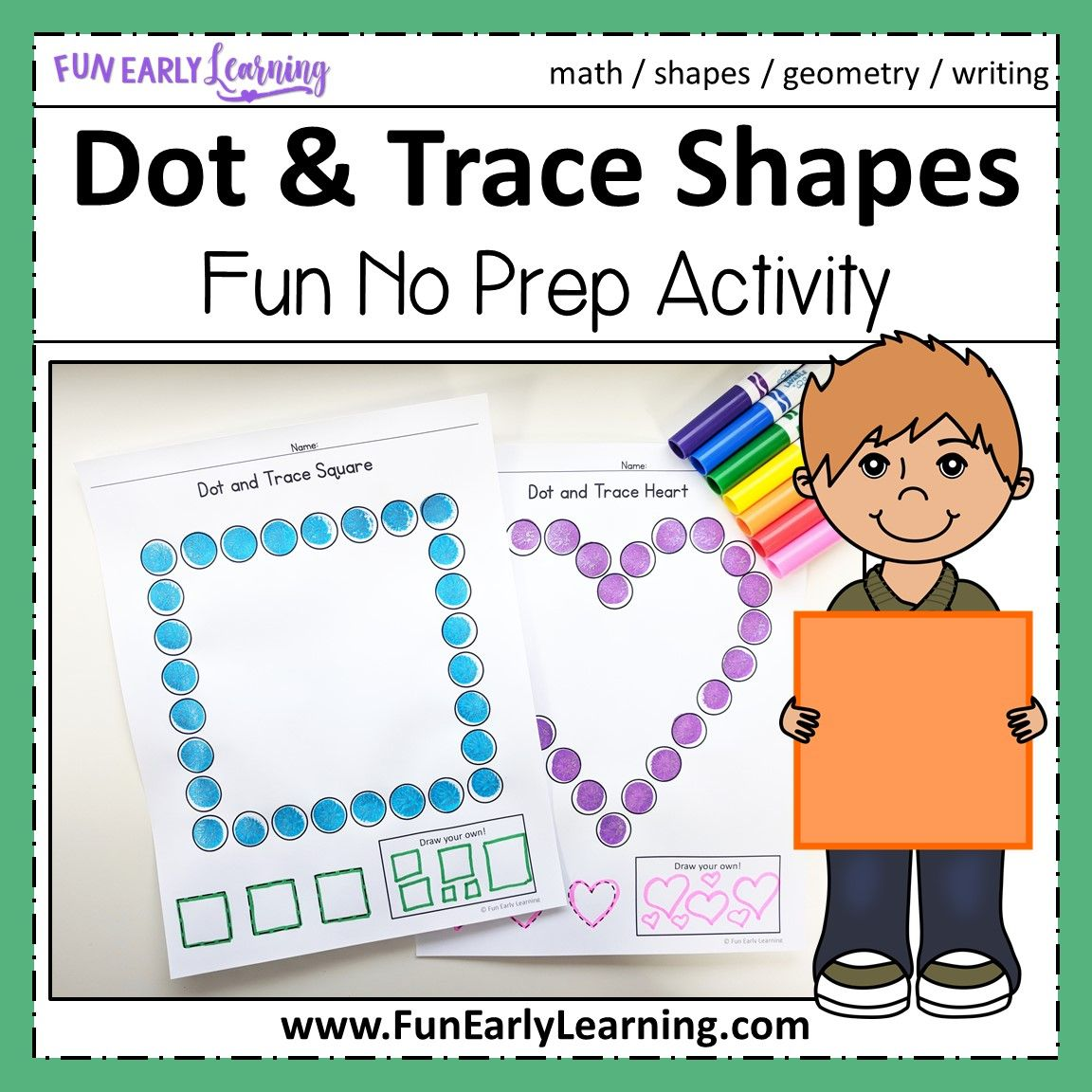Dot And Trace Bundle Letters Numbers Amp Shapes In
