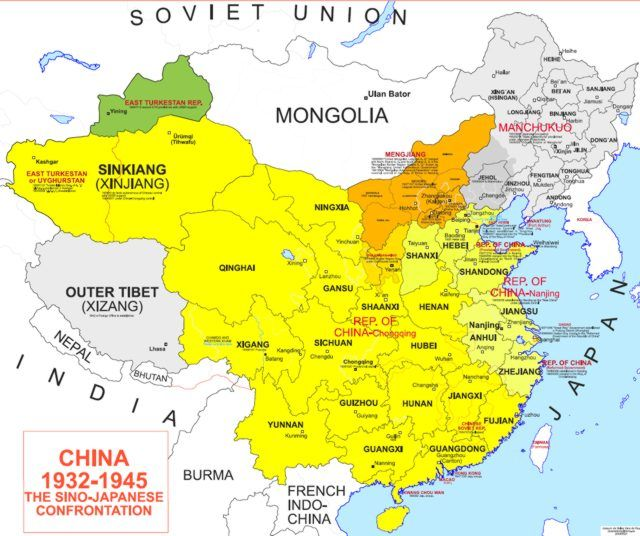 Map Of Modern Asia.The Civil War In China Part I The Bureaucratic Fight In
