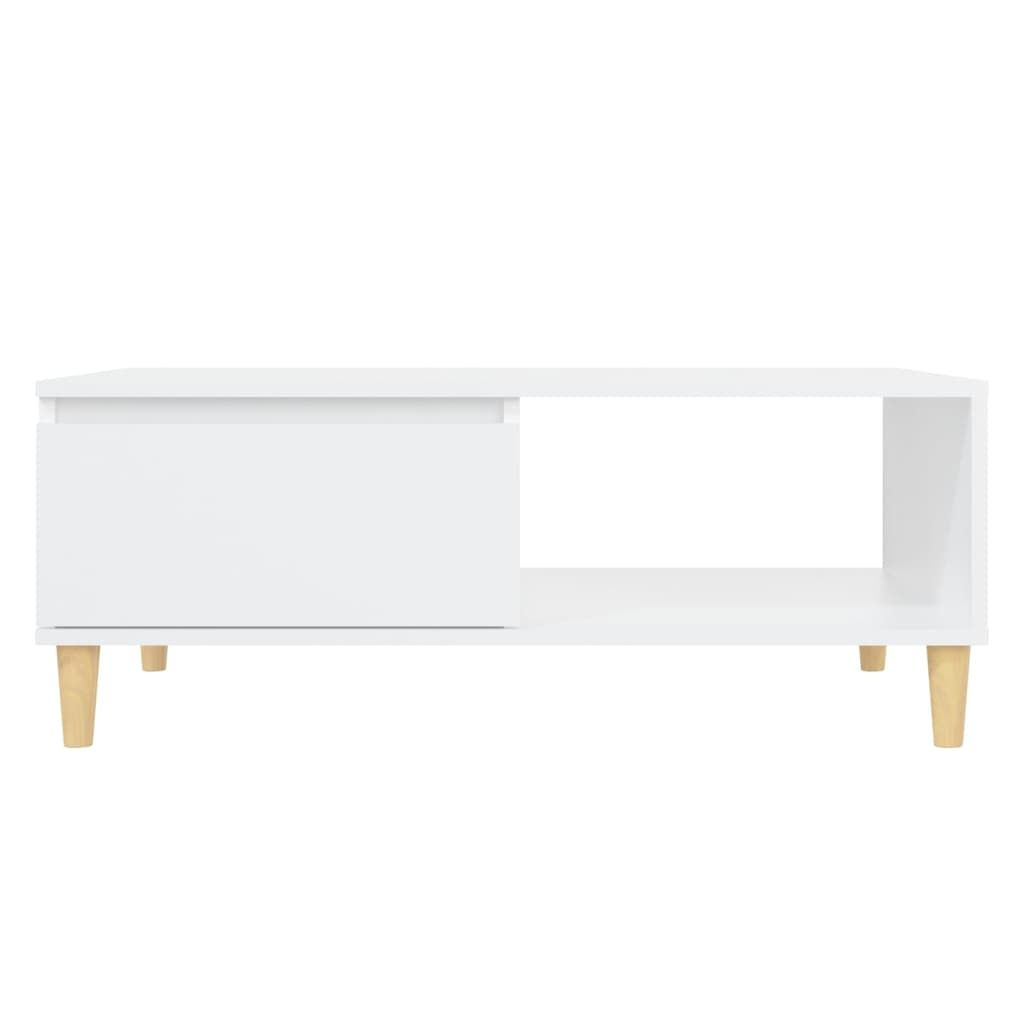 ZNTS Coffee Table White 90x60x35 cm Chipboard 805995