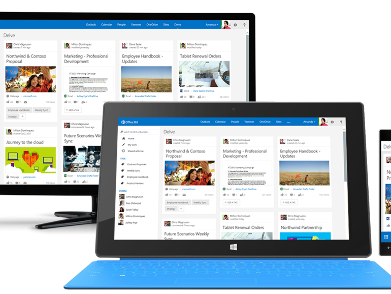 Microsoft starts rolling out Delve, its 'Flipboard for