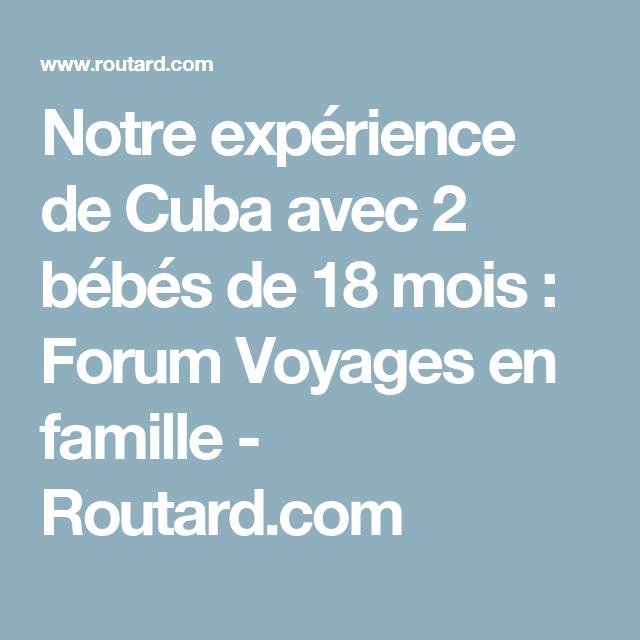 voyage cuba avec bebe
