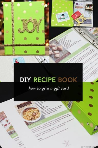 Christmas Holiday Gift Crafts: DIY Recipe Book - perfect house warming gift and guide for new recipes.