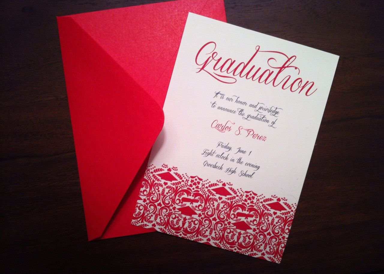 Custom DIY Graduation Invitation/Announcement - High School/College ...
