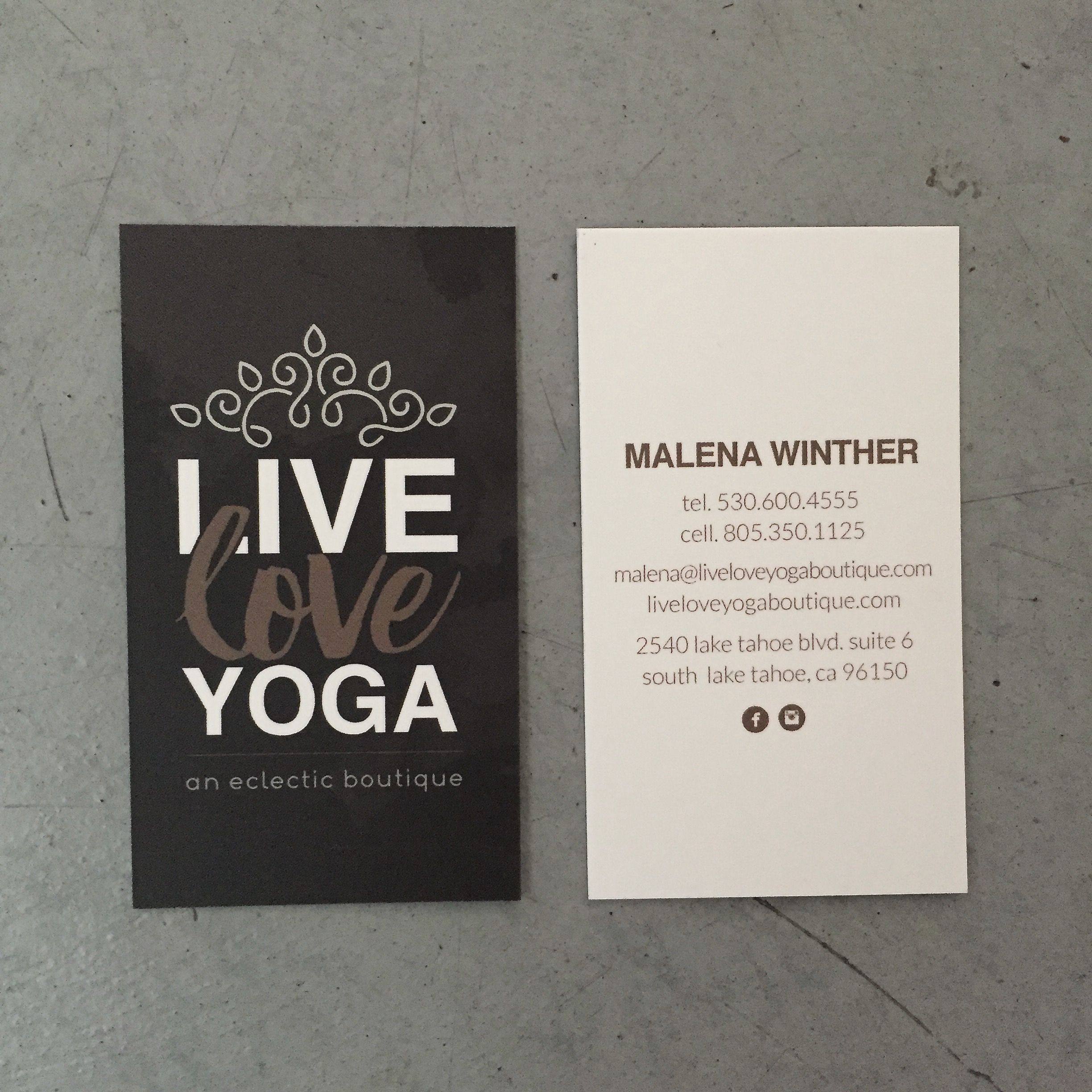 Perspektiiv Design Co Live Love Yoga Business Cards Branding South Lake Tahoe California Business Card Branding Yoga Business South Lake Tahoe