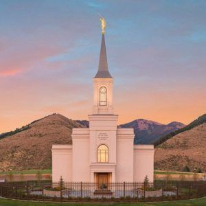 Star Valley Temple Sunrise Panoramic Star Valley Temple