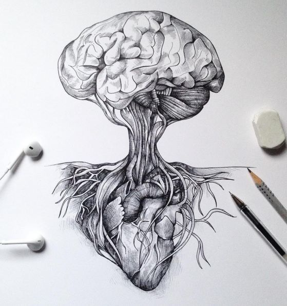 Brain As A Tree And Heart For Roots Art Tattoo Ideas Pinterest