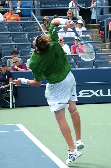 The Racket Parallel To The Right Side Of The Body In The Racket Drop Is A Hallmark Of Professional Serves Tennis