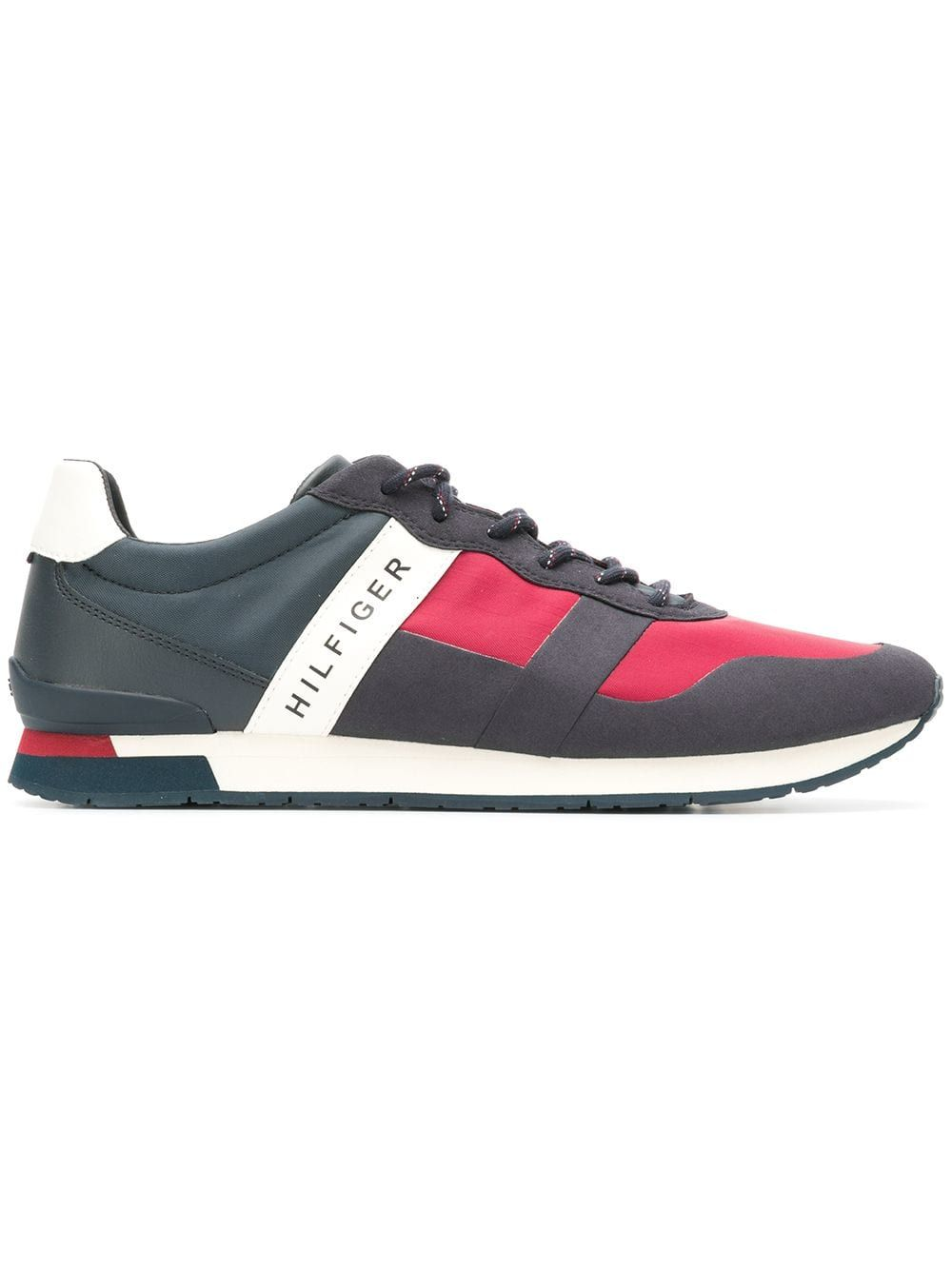 86f70c555083bb TOMMY HILFIGER TOMMY HILFIGER LOW TOP LOGO SNEAKERS - BLUE.  tommyhilfiger   shoes