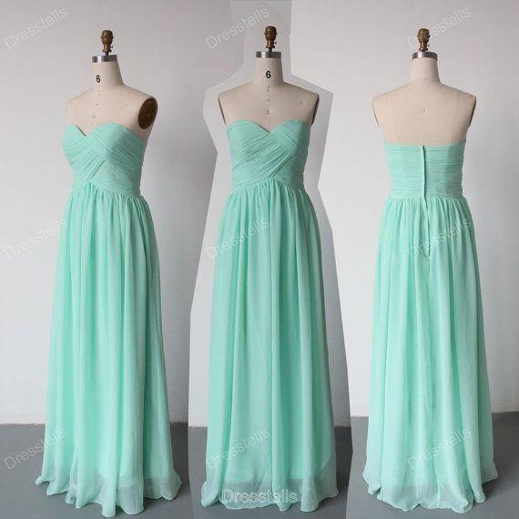 Brautjungfernkleider Mint Brautjungfer Kleid / von dresstells ...
